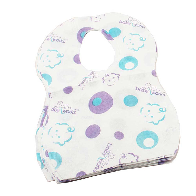 Baby Works - BABY WORKS Disposable Bibs - Available at Boutique PinkiBlue