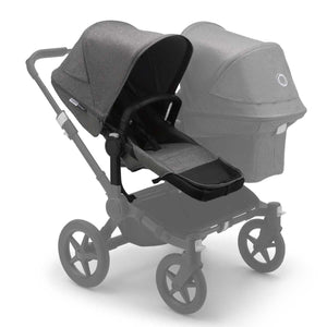 BUGABOO DONKEY 3 Duo Extension Set Complete - Grey Melange - PinkiBlue