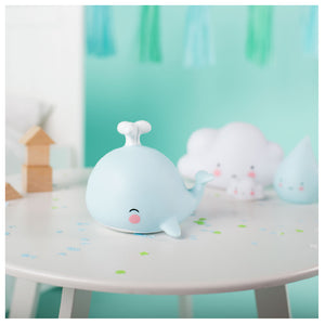 A LITTLE LOVELY COMPANY Little Night Light - Whale - PinkiBlue