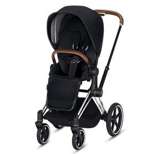 CYBEX Priam Stroller - Chrome/Brown Frame - PinkiBlue