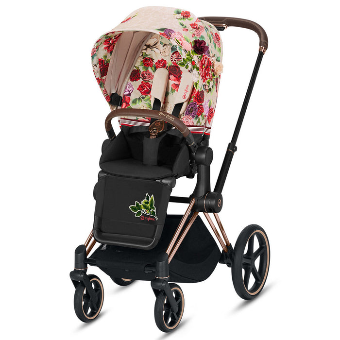 CYBEX E-Priam Stroller Spring Blossom - Rose Gold - Blossom Light