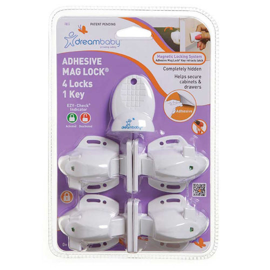 DreamBaby - DREAMBABY Adhesive Mag Lock Set - Available at Boutique PinkiBlue