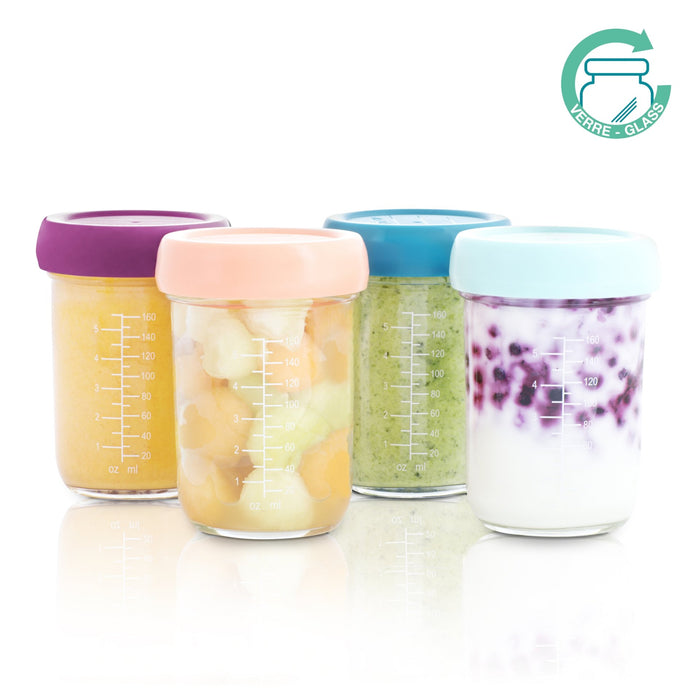 Babybols Hermetic Glass Storage Containers - Set of 4