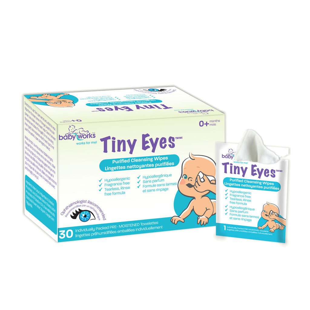 BABY WORKS Tiny Eyes 30 Count Purified Cleansing Wipes