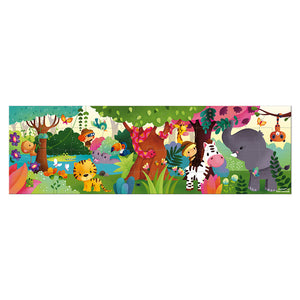 JANOD Puzzle - Panoramic Jungle - PinkiBlue