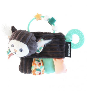 DEGLINGOS Activity Teether - Kezakos The Marmoset - PinkiBlue