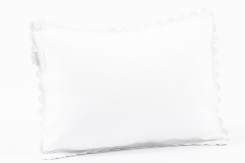BOUTON JAUNE Pillow 10x13 - On a Cloud - White