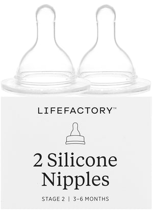 LIFEFACTORY Replacement Nipples - PinkiBlue
