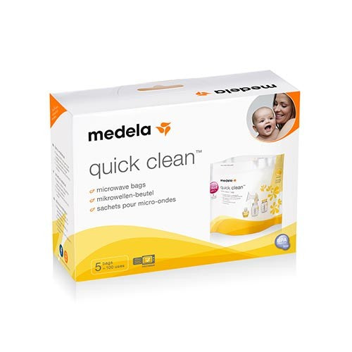 Medela - MEDELA Quick Clean Micro Steam Bags 5-pack - Available at Boutique PinkiBlue