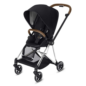 CYBEX Mios Stroller - Chrome/Brown Frame - PinkiBlue