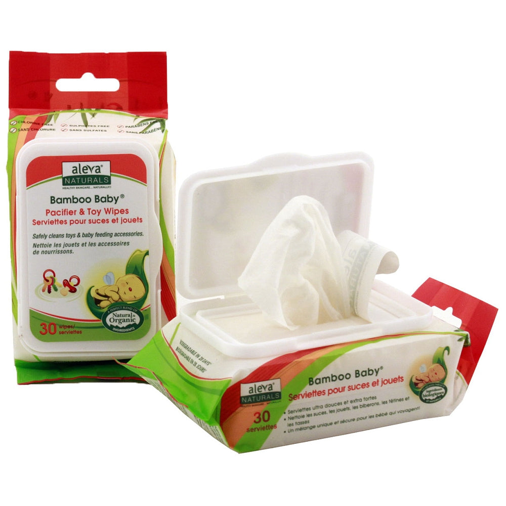 Aleva - ALEVA NATURALS Pacifier & Toy Wipes - Available at Boutique PinkiBlue