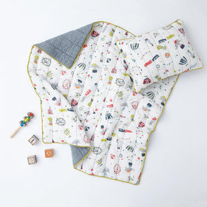 PETIT PEHR Quilted Blanket - PinkiBlue