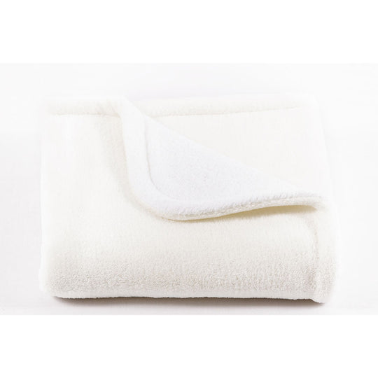 BOUTON JAUNE Pique Ratine de Bain Plush GRAND - Blanc