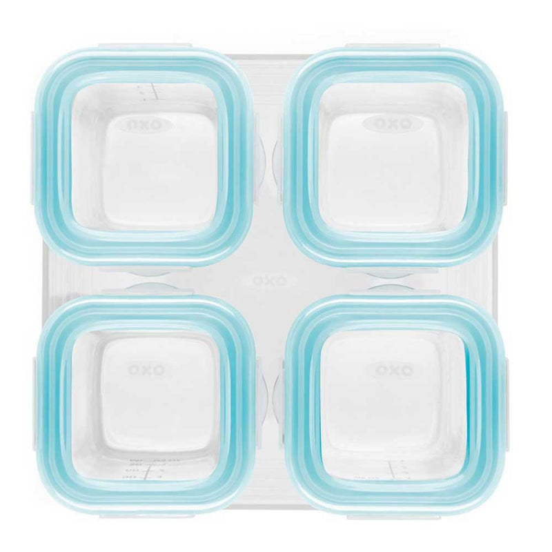 OXO - OXO Glass 4oz Baby Blocks - Available at Boutique PinkiBlue