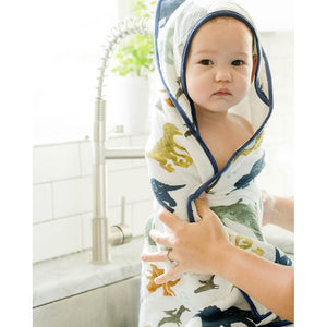LITTLE UNICORN Hooded Towel & Wash Cloth - PinkiBlue