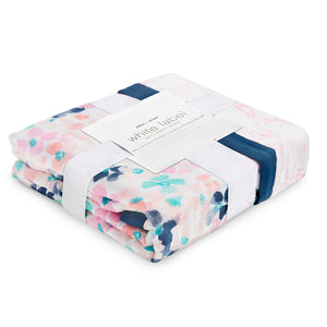 ADEN AND ANAIS Silky Soft Dream Blanket - PinkiBlue