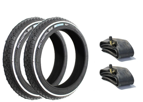 Phil & Teds Pram Tyres & Inner Tubes Set of 2 Puncture Resistant (HS140)