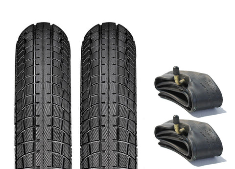 First Wheels Pram Tyre & Inner Tube Set of 2 (Semi Slick)