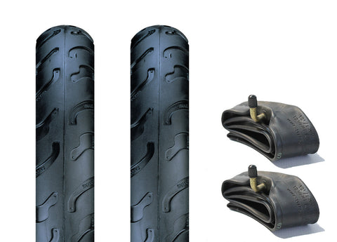 First Wheels Pram Tyre & Inner Tube Set of 2 (Slick)