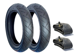 Genuine Joolz Day Pram Tyre & Inner Tube Set of 2 (Slick)