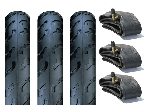 Quinny Freestyle Pram Tyre & Inner Tube Set of 3 (Slick)
