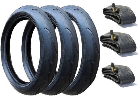 Phil & Teds Vibe / Verve / Smart Lux Pram Tyres & Inner Tubes Set of 3 (300 x 55)