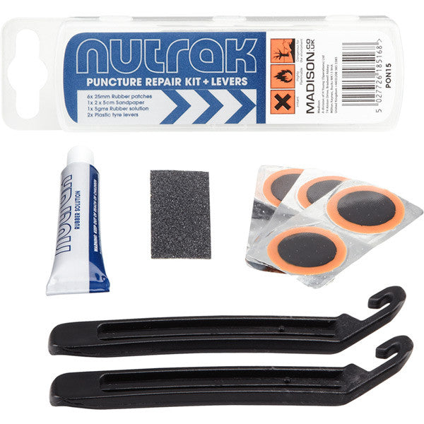 Nutrak Puncture Repair Kit with Tyres Levers for Prams