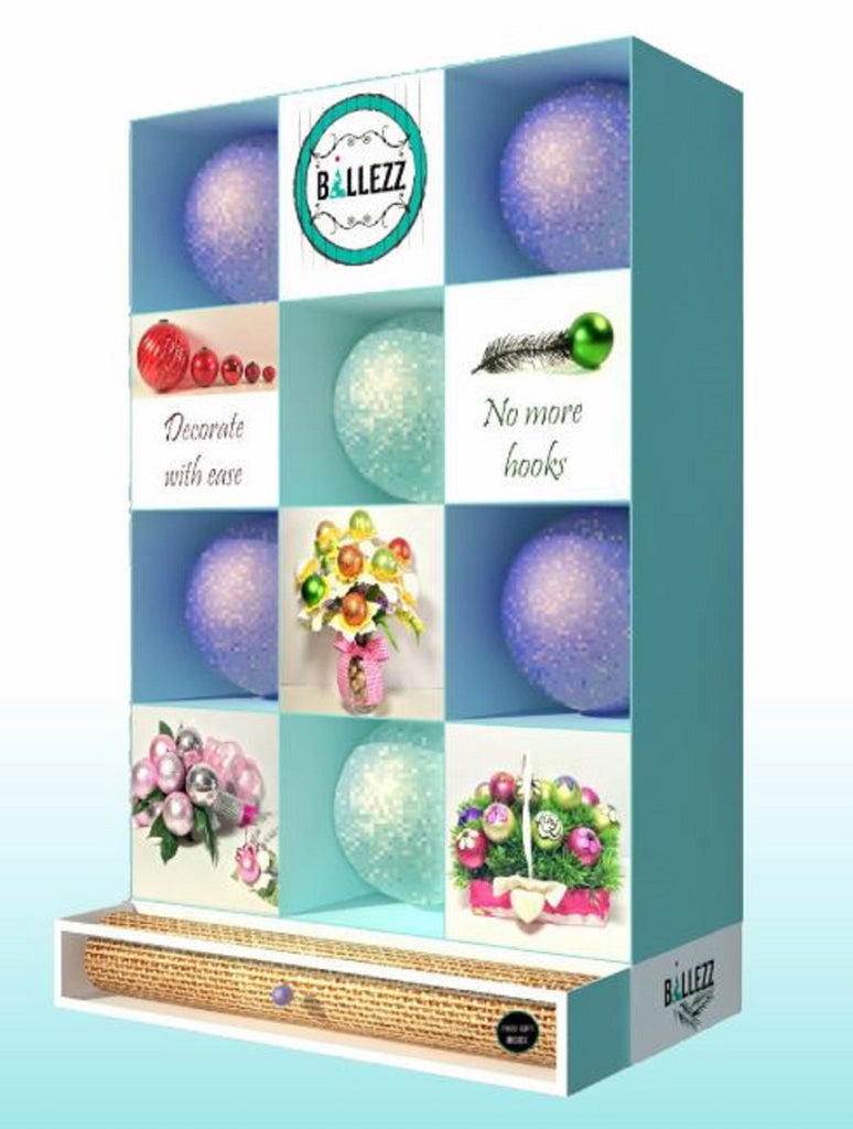 Ballezz All-Occasion Christmas Holiday Decorating Ball Set 12 Pieces BDBS12