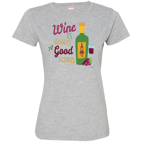 Image of Ladies' Fine Jersey T-Shirt