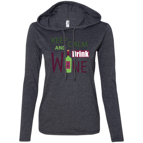 Image of Ladies' Long Sleeve T-Shirt Hoodie