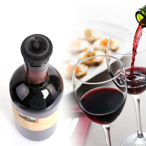 The Perfect Wine Saver With 2 Vacuum Stoppers - Black