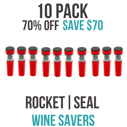 ROCKET|SEAL | WINE SAVER - 10 PACK (70% OFF)