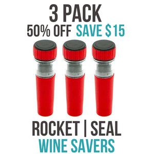 ROCKET|SEAL | WINE SAVER - 3 PACK (50% OFF)