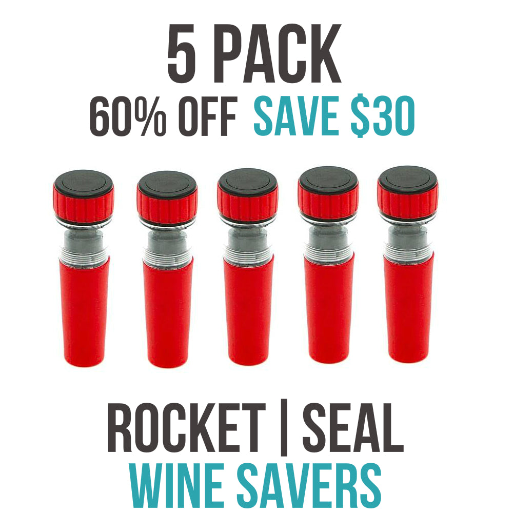 ROCKET|SEAL | WINE SAVER - 5 PACK (60% OFF)