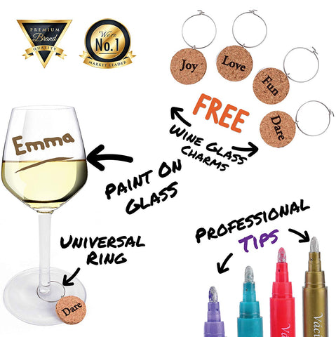 Image of Perfect Wine Glass Markers That Personalize Your Glass