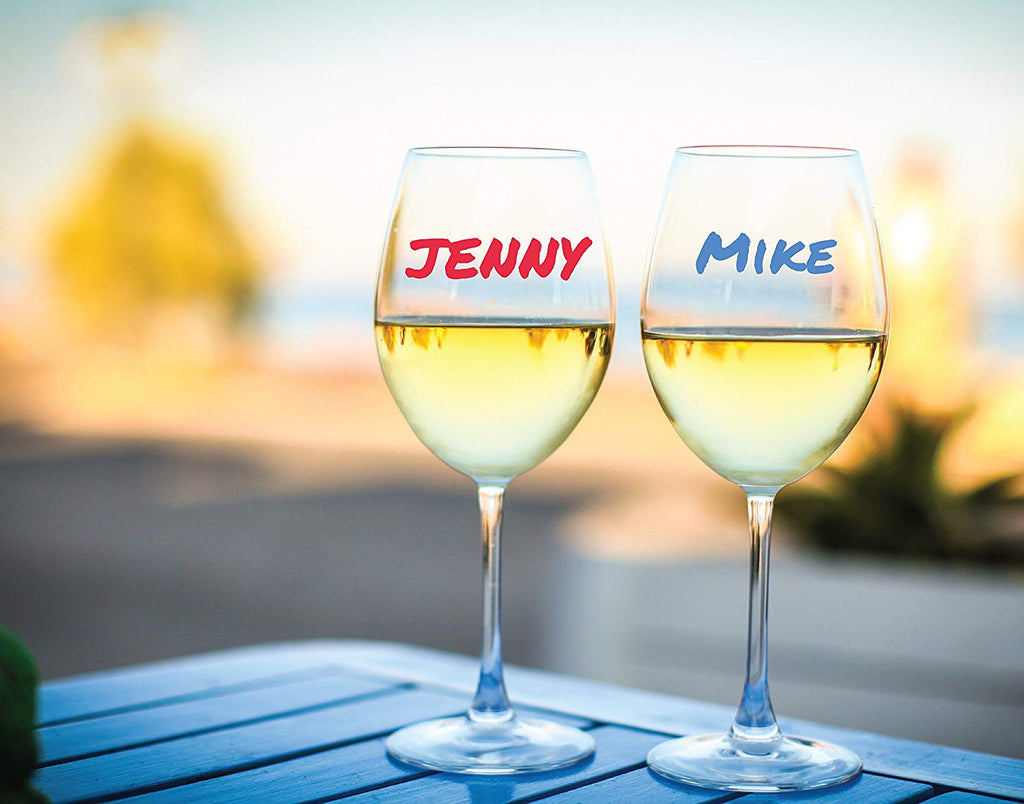 Perfect Wine Glass Markers That Personalize Your Glass