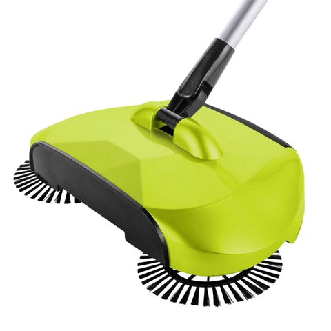 Image of Multi-function 3 in 1 Household Cleaning Lazy Hand Push Sweeper Broom Dustpan Trash Bin 360° Rotating Floor Cleaning Mop