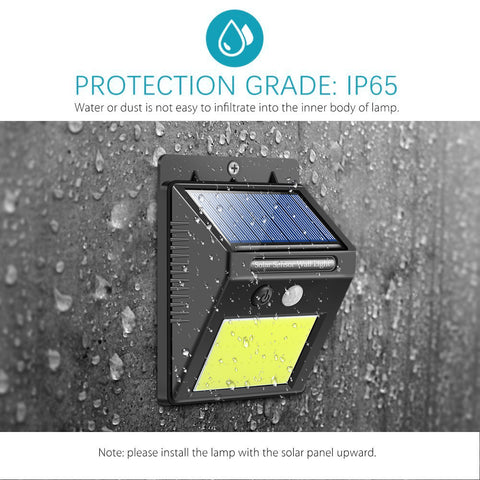 Image of 48 LED Motion Solar Light Waterproof Security Night Light Rechargeable Wall Light Outdoor Cool White