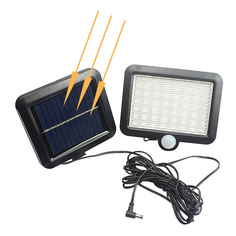 Image of Solar Powered Waterproof Outdoor Lawn Lights With Body Motion Detector