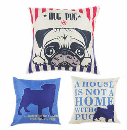 Cute Pug Cushion Covers - for Super Pug Lovers