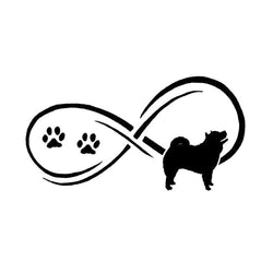 17.8*9.1CM Chow Chow Car Stickers - Black or Silver