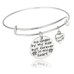 """Forever In My Heart. Thank you"" - Bracelet"