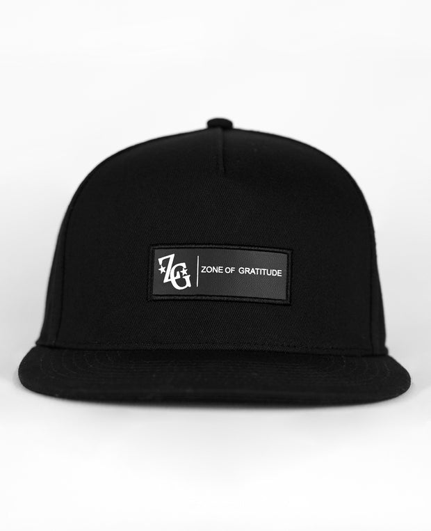 Black Trap Adjustable Snapback