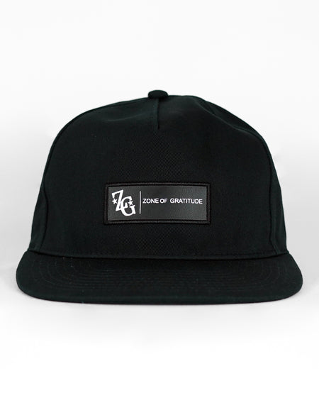 Unstructured Black Trap Adjustable Snapback