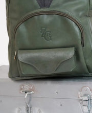 Leather Backpack in Green