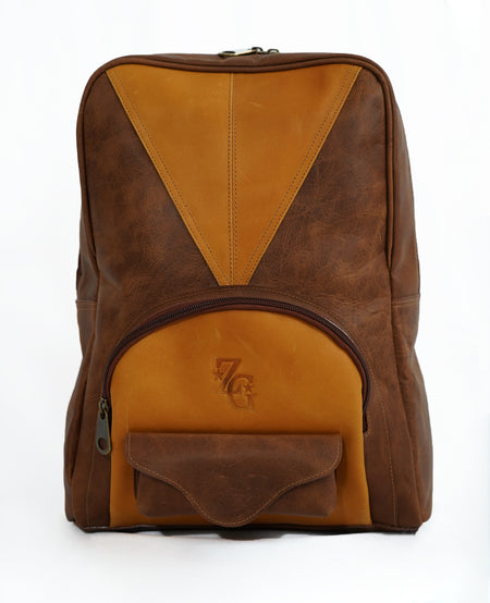 Leather Backpack in Brown