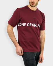 Regular Fit T-shirt in Burgundy