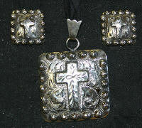 Story Teller Cross Pendant & Earrings