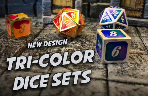 New Tri-Color Dice Sets