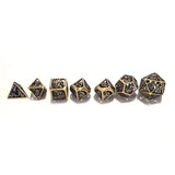 dragon dice hollow brass ancient copper for dungeons and dragons Pathfinder tabletop game